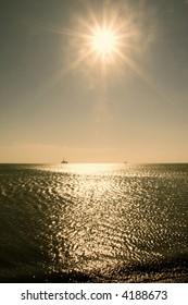 The Caspian Sea near Baku