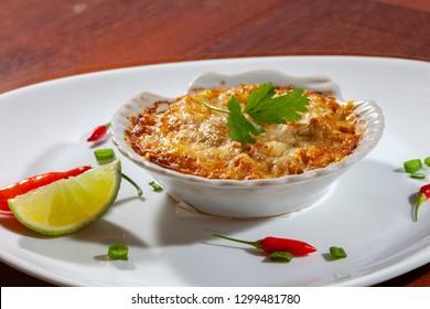 Casquinha de Siri. Crab Meal Gratin Appetizer