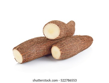 Cassava isolated on a white background.