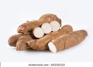 Cassava raw tuber - Manihot esculenta