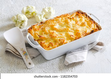 Casserole from pasta and pasta with cheese