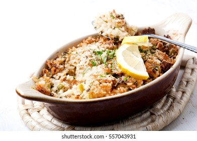 Casserole with rice and vegetables
