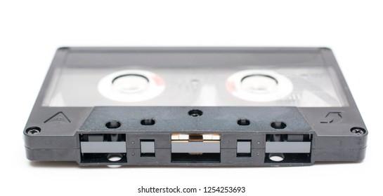 Cassette tape close up.