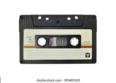 Cassette tape, isolated on white