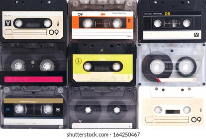 Cassette tapes background