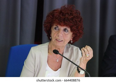 Cassino, Frosinone, Italy - June 16, 2017 - The Minister Giovanna Fedeli speaks at the university for the presentation of the book by Anna Maria Isastia and Rosa Oliva