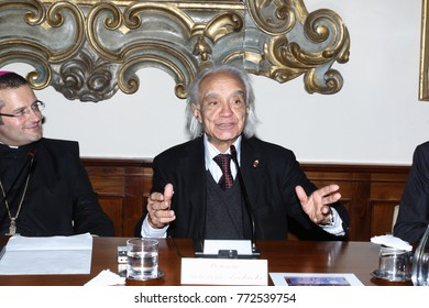 Cassino, Italy, 10 December 2009 - Physicist Antonino Zichichi attends a convention in the Abbey of Montecassino