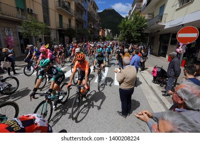 Cassino, Italy - May 16, 2019: Giulio Ciccone on the podium of the sixth stage of the 102nd Tour of Italy Cassino-San Giovanni Rotondo...