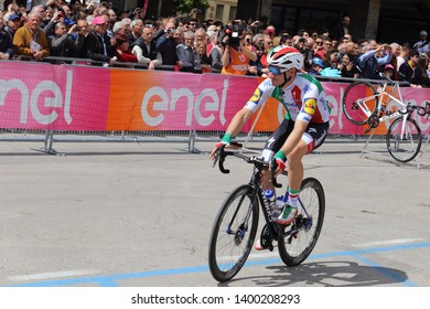 Cassino, Italy - May 16, 2019: Elia Viviani before the start of the sixth stage of the 102th Tour of Italy Cassino-San Giovanni Rotondo