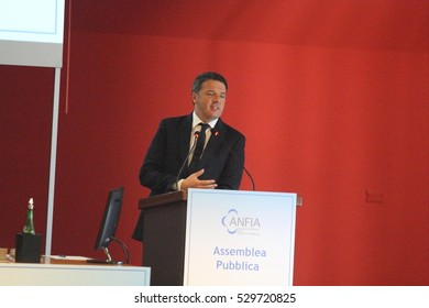 Cassino - Italy - November 24, 2016 - Matteo Renzi speaks to industry and workers to Fca conference