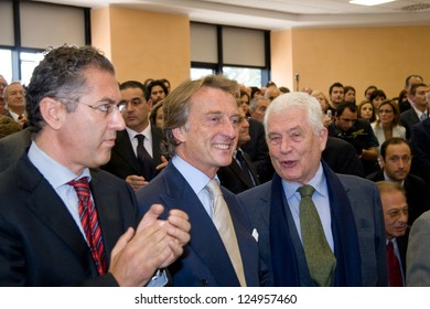CASSINO, ITALY - OCT 05: Montezemolo during the conferment of the degree to Honoris Causa to Sergio Marchionne at the University of Cassino. October 05, 2007 in Cassino, Italy