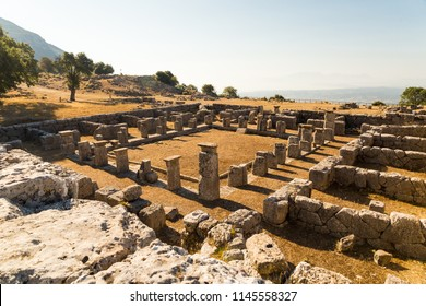 cassope ancient 200 years BC in the village kamarina, preveza perfecture Greece