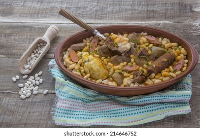 Cassoulet stew typical of southern France