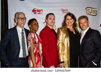 """The cast of """"After Forever"""" arrives at the 10th Annual Indie Series Awards at The Colony Theatre in Burbank, CA on April 3, 2019."""