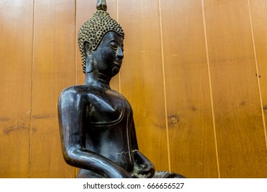 "Cast bronze Buddha, Thailand. The name ""Phra sing, Chiang Saen. 800-year old"