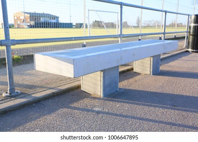 cast concrete public outdoor seating for sports or public park or play area