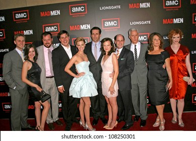 "Cast and crew of ""Mad Men""  at the Premiere of ""Mad Men"" Season 2. Egyptian Theatre, Hollywood, CA. 07-21-08"