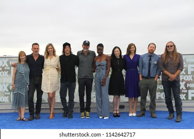 """Cast and crew of """"The Walking Dead"""" arrive at a special AMC """"The Walking Dead"""" photo call at the Andaz Rooftop Lounge on July 20, 2018 in San Diego, CA."""