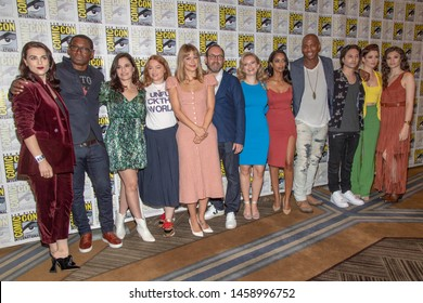 """Cast of CW's """"Supergirl"""" attends 2019 Comic-Con International CW's """"Supergirl"""" at Hilton Bayfront, San Diego, California on July 20 2019"""