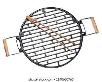 Cast iron grill, top view