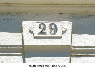 Cast iron house number twenty nine (29)