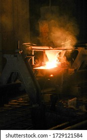 cast iron job site for welding rails