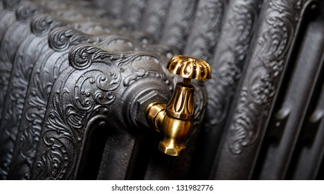 Cast iron radiator close-up