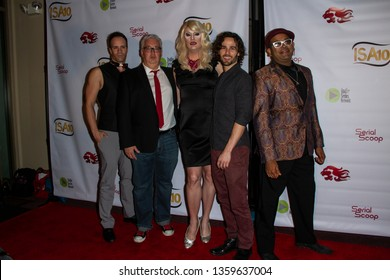 """The Cast of """"Roads to Keystone"""" arrives at the 10th Annual Indie Series Awards at The Colony Theatre in Burbank, CA on April 3, 2019."""