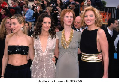 The Cast of SEX AND THE CITY, Sarah Jessica Parker, Kristen Davis, Cynthia Nixon & Kim Cattrall, at the 7th Annual SAG Awards, LA, March 11th, 2001