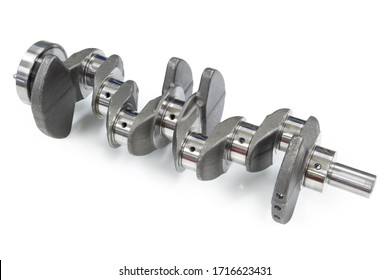 Cast steel crankshaft ready for mounting on a 1.5 dci diesel engine