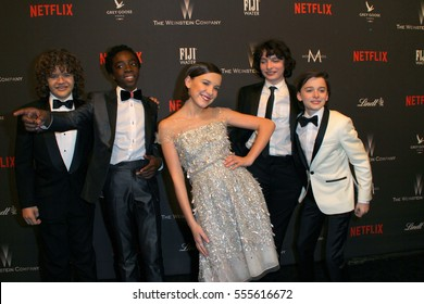 "The Cast of ""Stranger Things"" arrives at the Weinstein Company and Netflix 2017 Golden Globes After Party on Sunday, January 8, 2017 at the Beverly Hilton Hotel in Beverly Hills, CA."