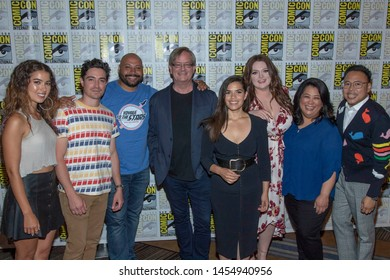 """Cast of """"Superstore"""" attends 2019 Comic-Con International NBC's """"Superstore"""" Press Room at Hilton Bayfront, San  Diego, CA on July 18, 2019"""