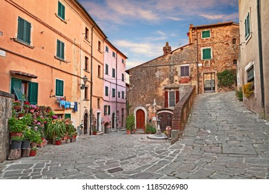 Castagneto Carducci, Leghorn, Tuscany, Italy: picturesque ancient corner in the old town of the village where he lived the Italian poet Giosue Carducci