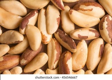 Castanha do Para, Brazilian nut over a wooden table. Healthy fat. Selenium Source