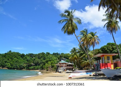 CASTARA, TOBAGO,  NOVEMBER 11, 2017. Castara, typical fishing village at Tobago, Caribbean Island,
