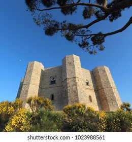 Castel Del Monte - landmark medieval castle in Apulia, Italy. UNESCO World Heritage Site.