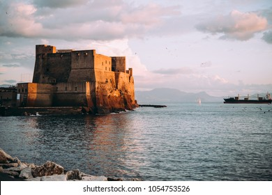 Castel dell'Ovo in Naples, Campania, Italy.