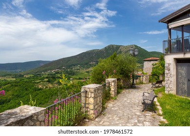 Castel di Sasso (Caserta, Italy) - The small medieval village of Sasso, in the province of caserta, where there are the ruins of the walls of the ancient fortress