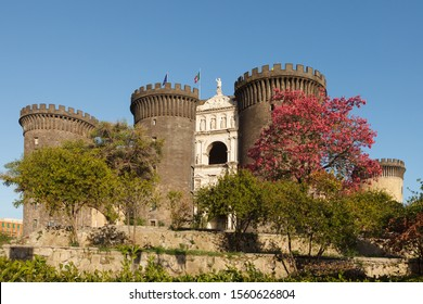 "Castel Nuovo (""New Castle"") or Maschio Angioino. Naples, Italy"