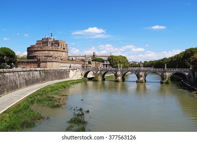 Castel Sant Angelo in a summer day in Rome, Italy, Europe