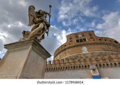 Castel Sant'Angelo or Castle of Holy Angel, Rome, Italy. Castel Sant'Angelo is one of the main travel destinations in Europe.