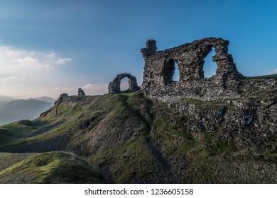 Castell Dinas Bran, Llangollen, Denbighshire, North Wales, UK.