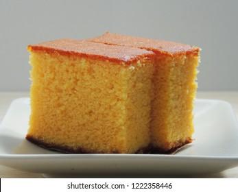 Castella cakes made in Nagasaki,Japan