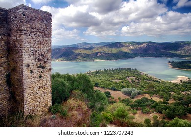 Castellar de la Frontera, a village within a castle surrounded by the walls of a well preserved Moorish-Christian fortress locadez in Cadiz.