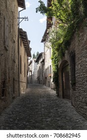 Castell'Arquato (Piacenza, Emilia Romagna, Italy), typical street of the historic city