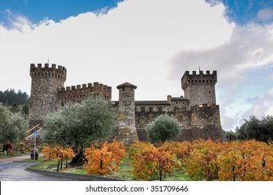 Castello di amorosa, Napa Valley, California, USA.