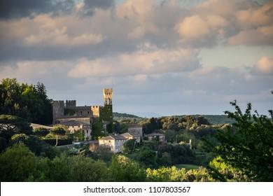 Castello di Celsa, fortress, Tuskany, Italy.