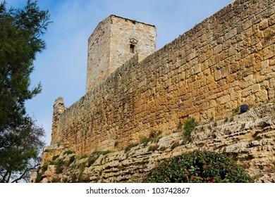 Castello di Lombardia medieval castle in Enna, Sicily, Italy