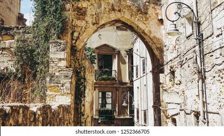 Castello quarter aka Casteddu e susu (meaning Upper Castle in Sard) old medieval town city centre in Cagliari, Italy