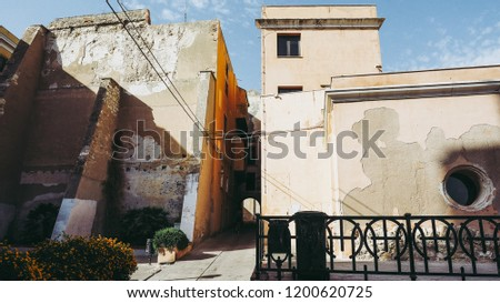 Castello Quarter Aka Casteddu E Susu Stock Photo Edit Now